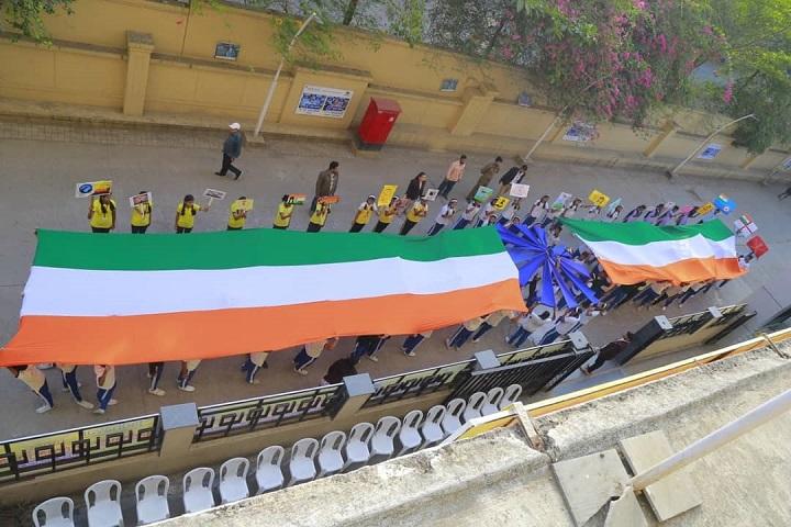 Adv Shardul Sudhakarrao Jadhavar Commerce and Science Junior College-Flag Day