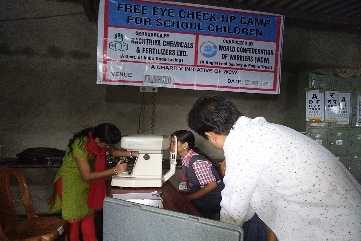 Indra English High School And Junior College-Eye Check Up