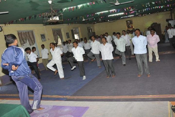 Shahaji Raje Mahavidyalaya-Yoga Day