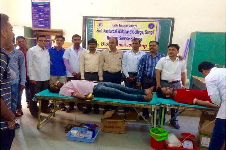 Smt Kasturbai Walchand College-Blood Donation