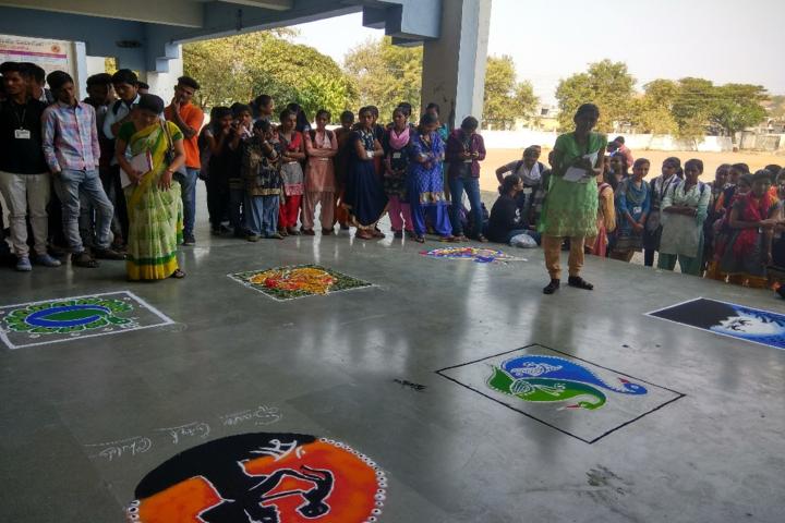Sant Muktabai Art and Comm College-Rangoli Competition