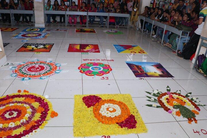 Moolji Jaitha Junior College-Rangoli Competition