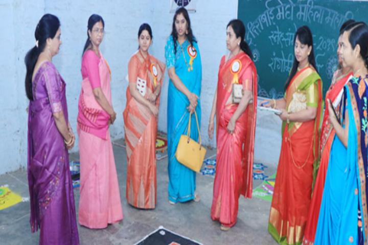 Indirabai Meghe Mahila Mahavidyalaya-Rangoli Competition