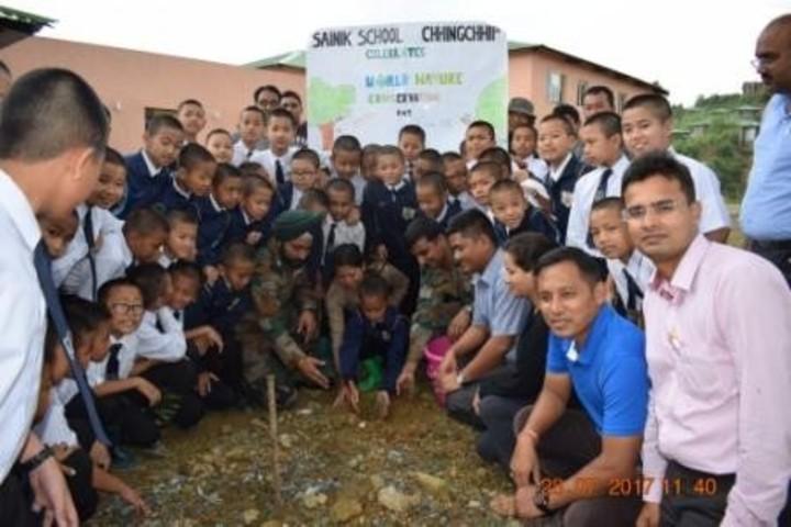 Sainik School-Tree Plantation
