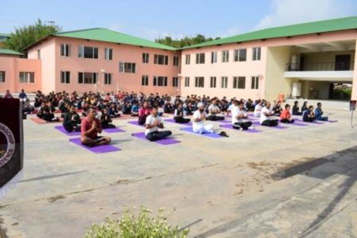 Sainik School-Yoga Day