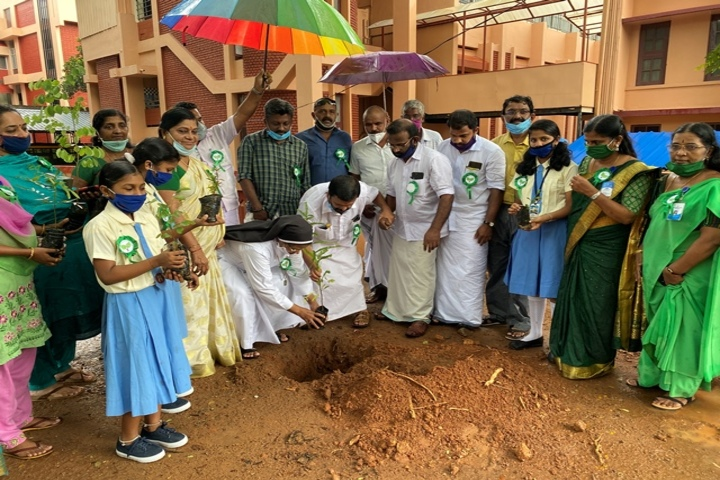 Holy Angels Convent Higher Secondary School-Tree Plantation