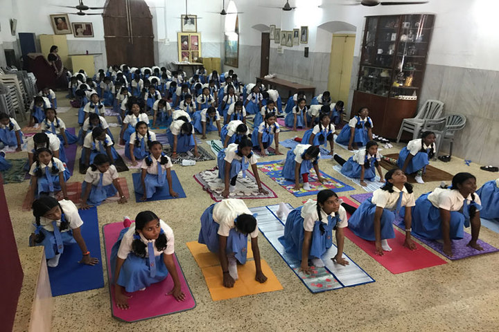 Holy Angels Convent Higher Secondary School-Yoga Day