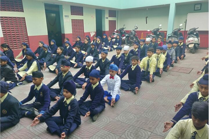 G.T.B. Mission Senior Secondary School- Yoga Activity