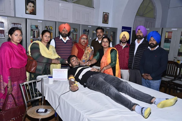 Akal Degree College- blood donation