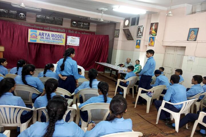 Arya Model Senior Secondary School- Debate and discussion