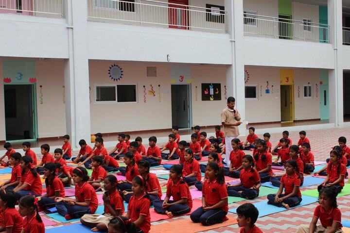 Samskruthi Gurukula-Yoga Activity
