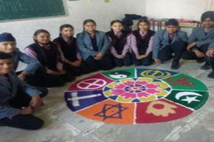 Shri Guru Harkrishan Convent School-Rangoli