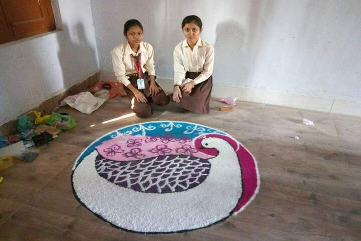 Swami Gurcharan Dass Sanatan Dharam Senior Secondary School-Rangoli Competition