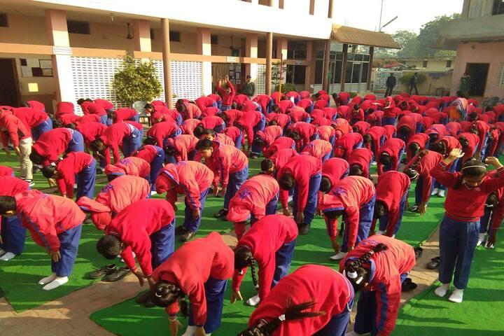 Aneja City Heart School-Yoga Activity