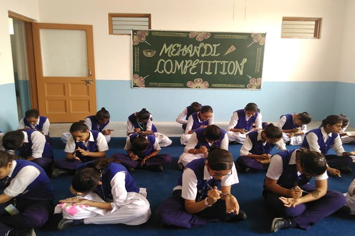 Anupam Shiksha Niketan Senior Secondary School- mehandi competition