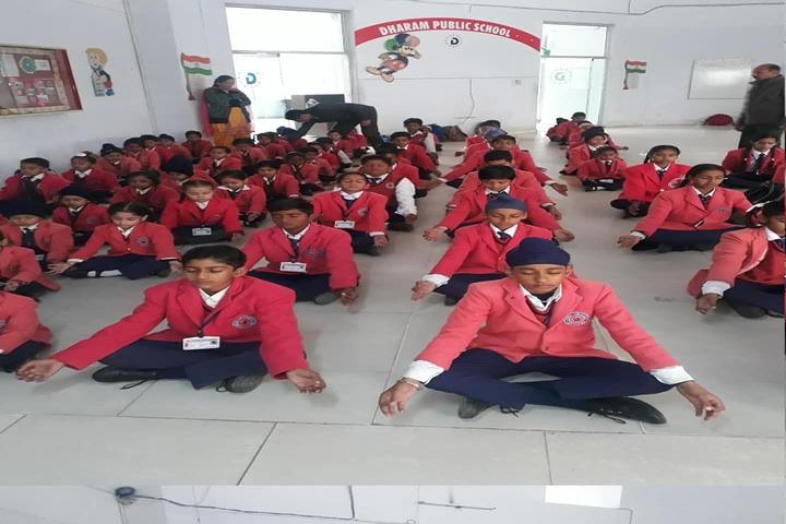 Dharam Public School-Yoga Activity