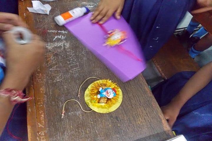 Air Force Gyan Jyoti School-Rakhi Making
