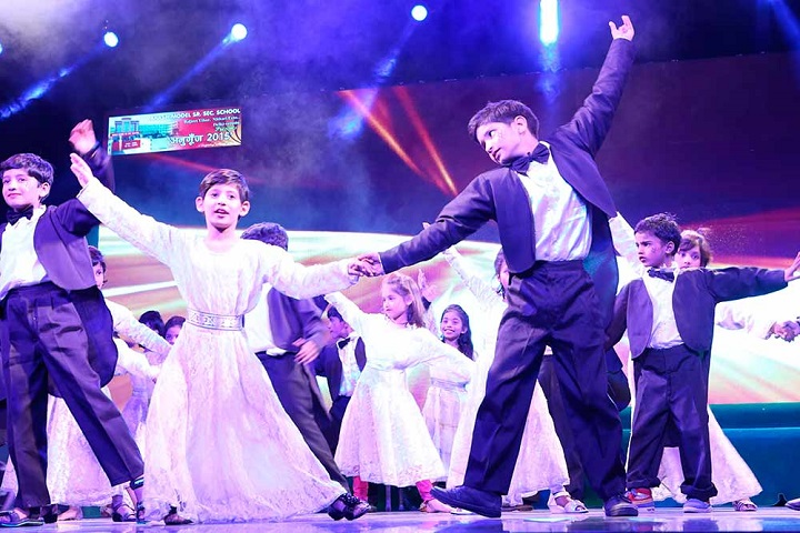 Akash Model School-Dance Performance by Primary Section