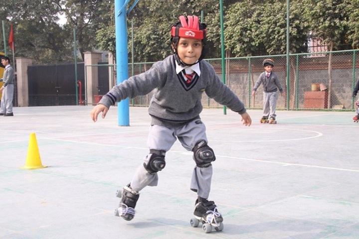 Amity International School-Student Skating in School Premises