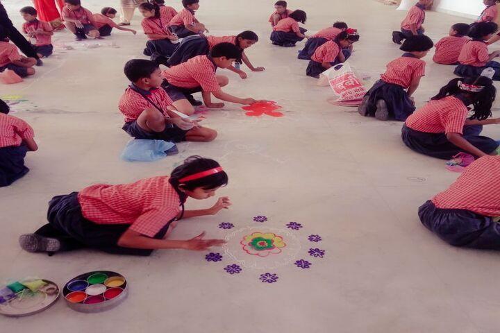 Baburao Maruti Wakode International School-Rangoli