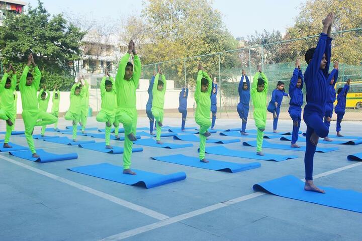 Bharti Public School-Yoga Activity