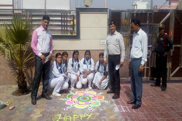 C.R. Oasis Convent School-Rangoli