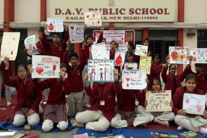 D A V Public School-Blood Donation Camp