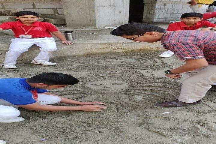 M L Khanna DAV Public School-Sand Art