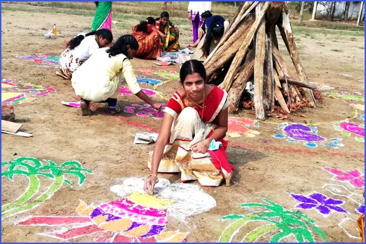 Loyola English Medium School-Sankranthi Celebrations