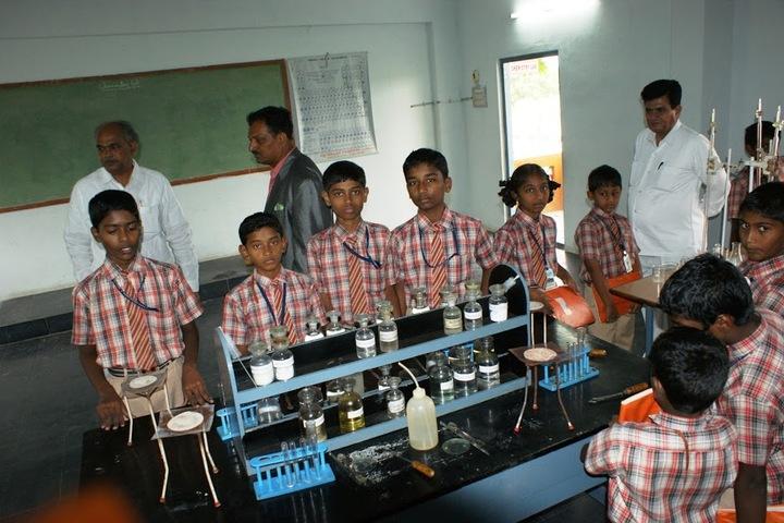 M J R Vidya English Medium High School-Chemistry Lab