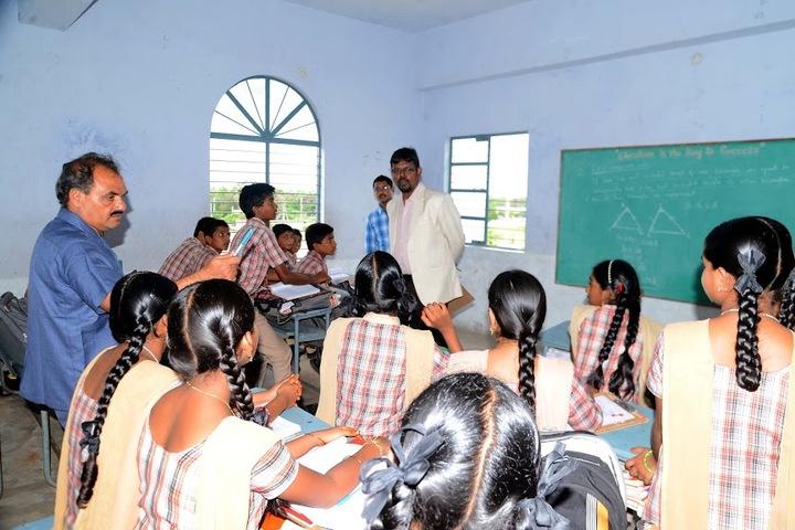 M J R Vidya English Medium High School-Classroom