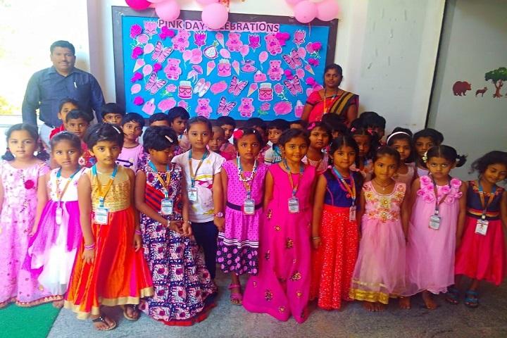 P E S Public School-Pink day Celebrations