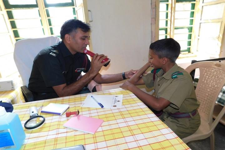 Sainik School-Medical Camp