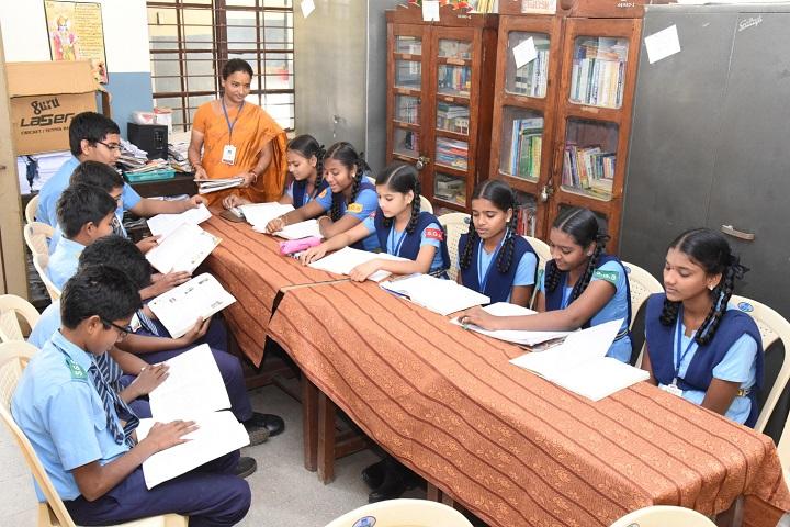 Smt Godavari Devi Saraf High School-Library