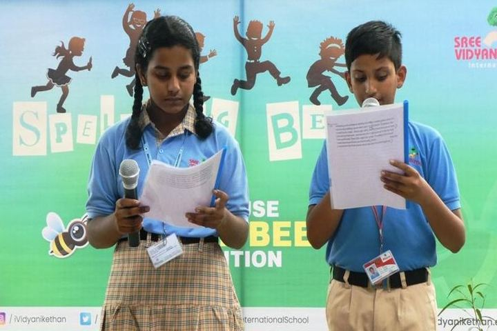 Sree Vidya Nikethan International School-Spell Bee Competition