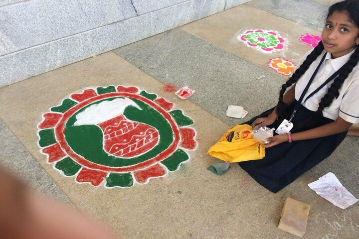 Sri Sri Academy-Rangoli Competition