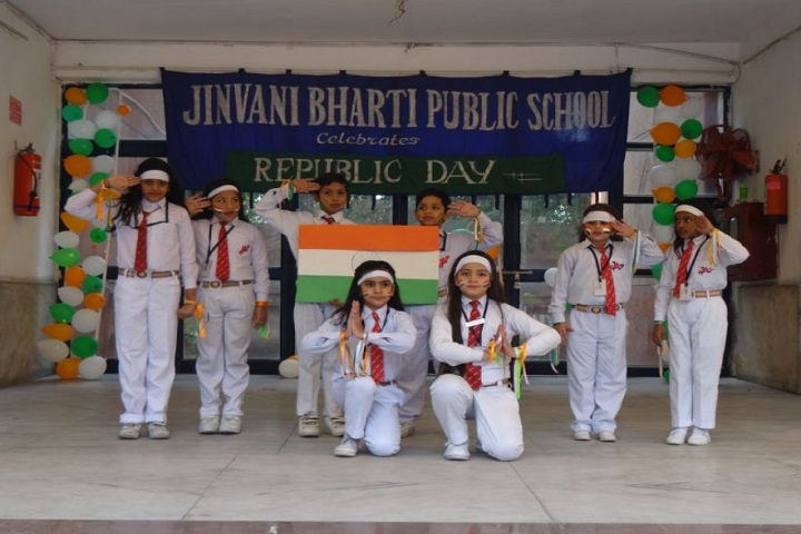 Jinvani Bharti Public School-Republic day Celebration