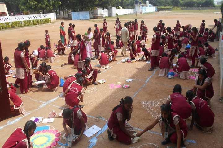 St Augustine English Medium School-Rangoli Competition
