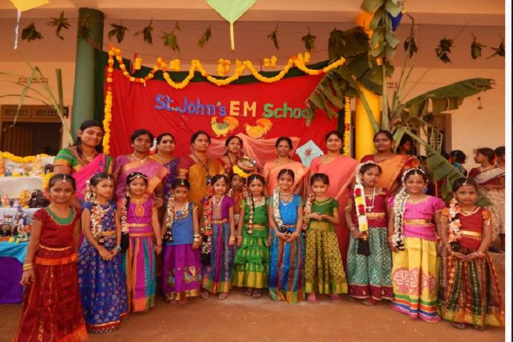St John s English Medium High School-St John s English Medium High School- Sankranthi Celebrations