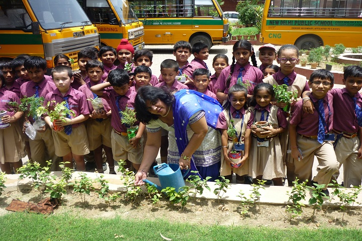 New Delhi Public School-Tree-Plantation