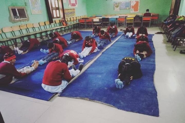 R D International School-Yoga day