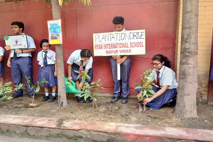 Ryan International School-Trees Plantation