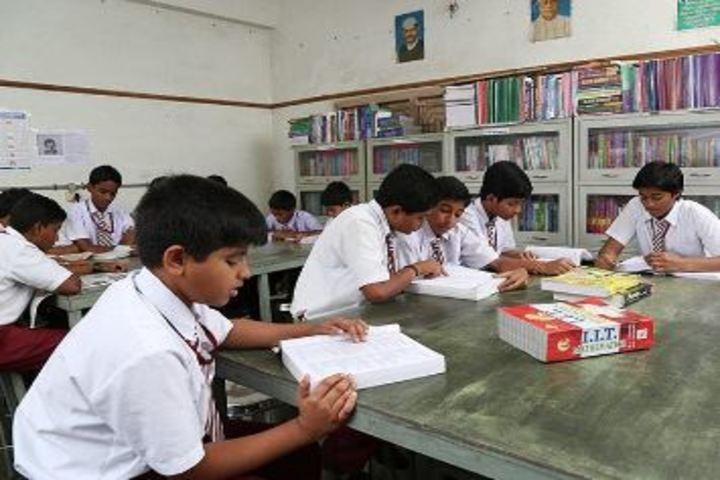 Viswasanti English Medium High School-Library