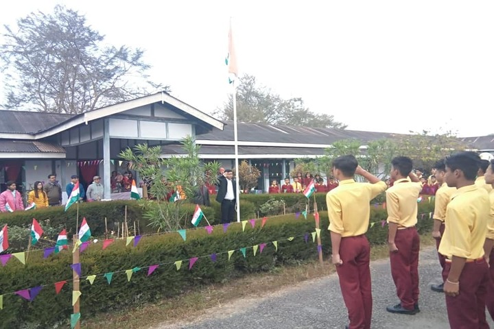 Arunachal Pali Vidyapith-Flag Hosting