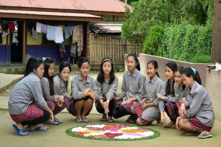 Blue Pine Residential English School-Onam Activity