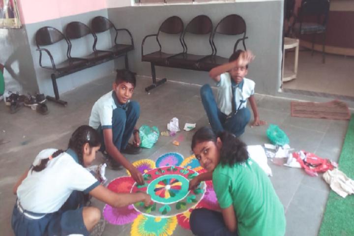 Baroda Public School-Rangoli Competition