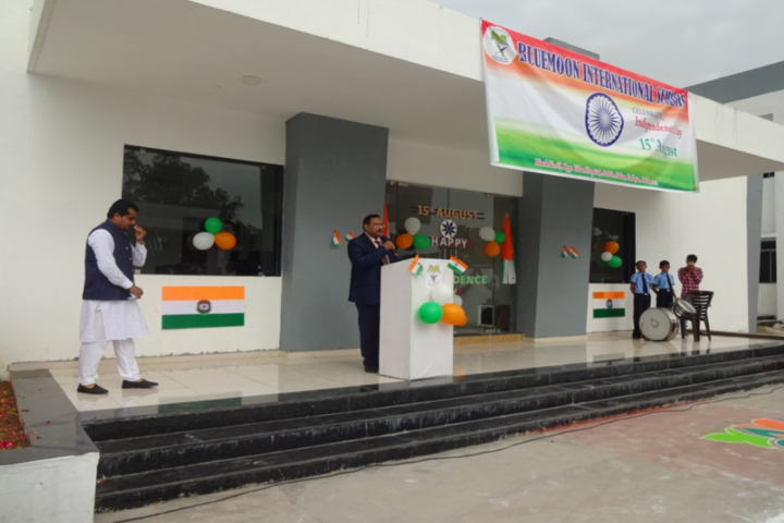 Blue Moon International School,Karjan-National Day Celebration