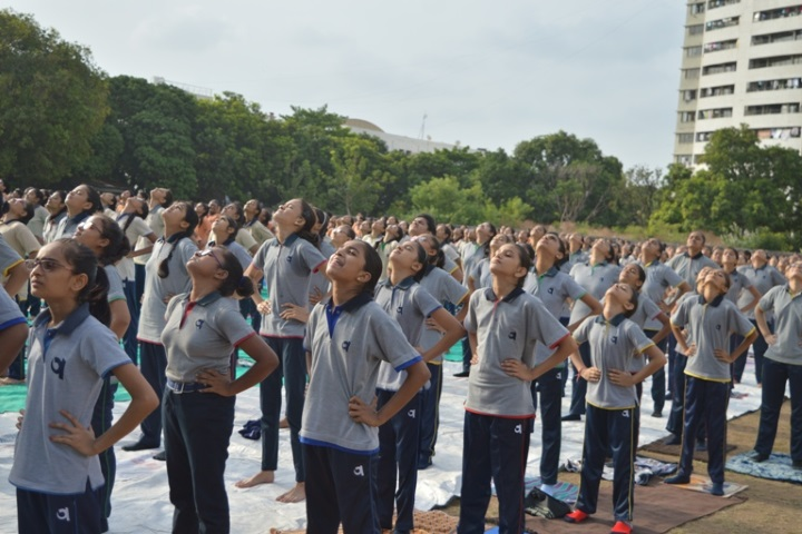 Gajera International School-Yoga Day