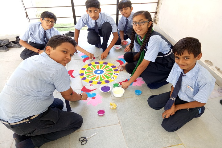 Gokul Global School-Rangoli Competetion