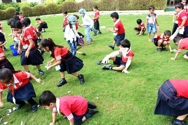 Jay Ambe International School-Campus Cleaning